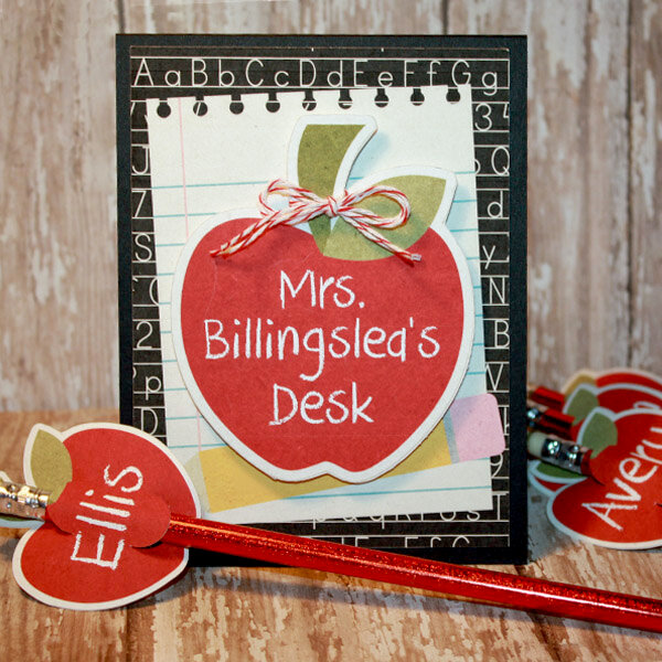 Mrs Billingslea Desk plaque and pencil toppers