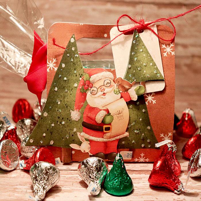 Santa Christmas treat bag