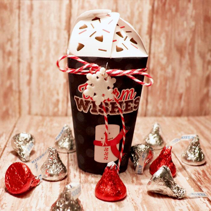 Latte Christmas candy holder