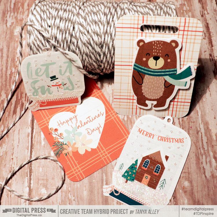 Wonderland Holiday gift tags