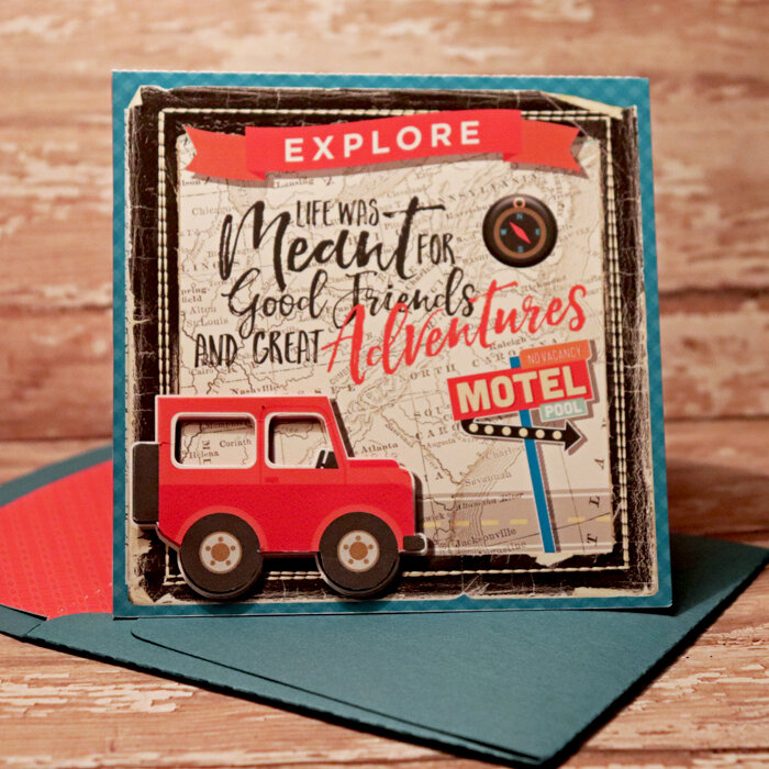 Explore Card with matching envie