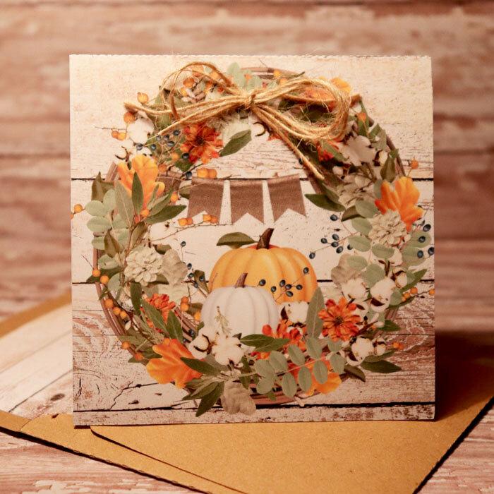 Fall Wreath Card