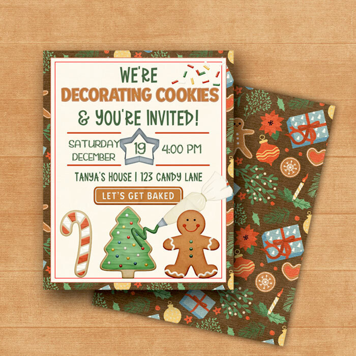 Cookie Party Invite