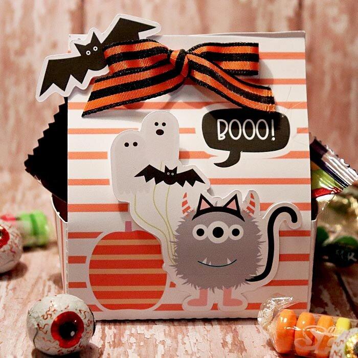 Boo Halloween Candy treat box