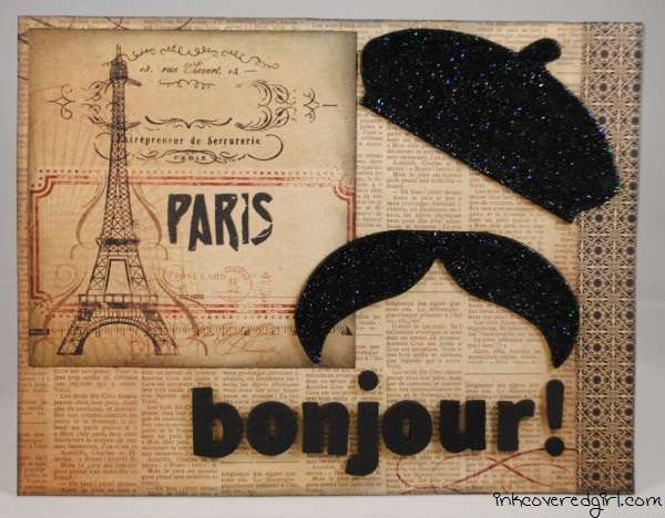 """Bonjour"" card {Basically Bare}"