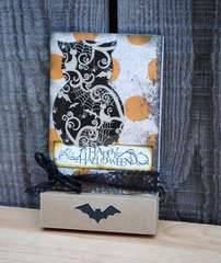 Owl Halloween Card (With Candy!)