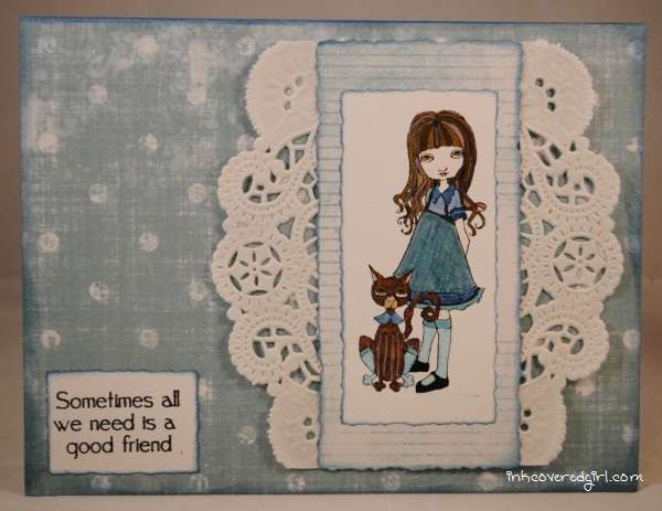 Francis Mary in Blue and Lace {Queen Kat Designs}