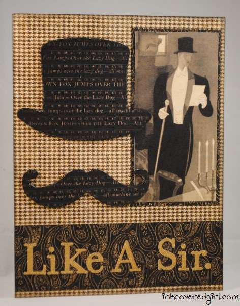 """Like A Sir"" card {Basically Bare}"