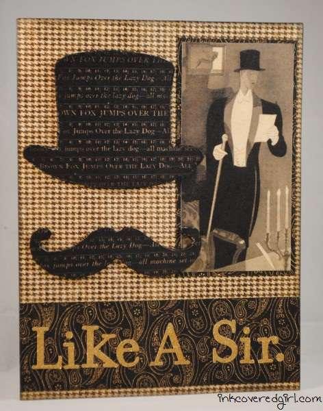 """""""Like A Sir"""" card {Basically Bare}"""