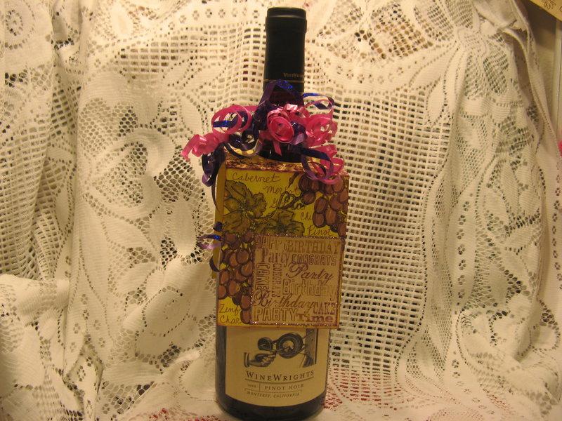 wine bottle label card