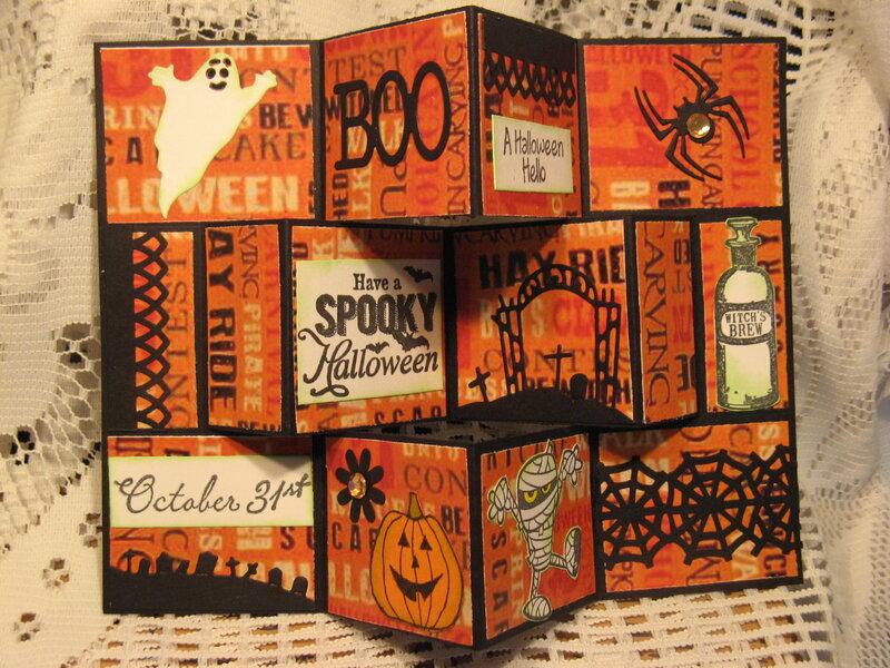 Fancy fold Halloween