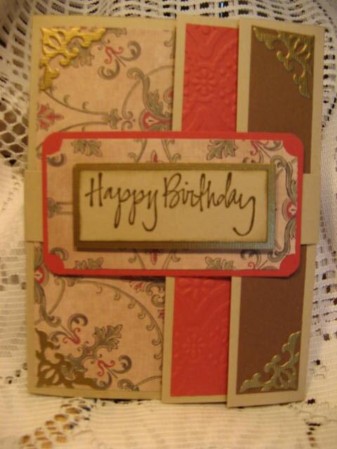 Triple  fold card.