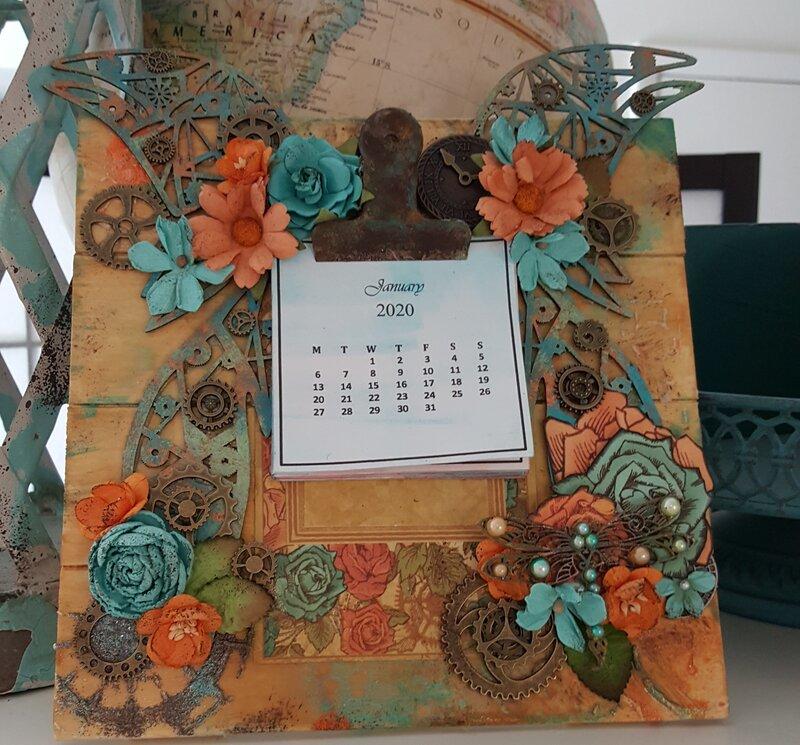 Steampunk Mini Clipboard Calendar