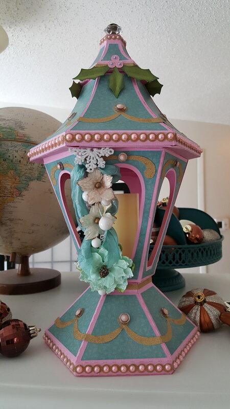 Victorian Lantern - Pink and Blue
