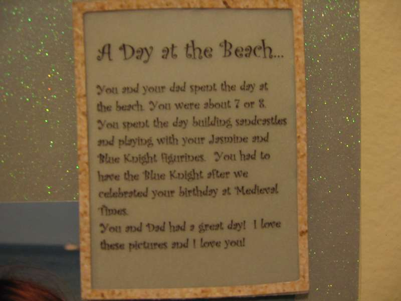 Day at the Beach - Journaling close up