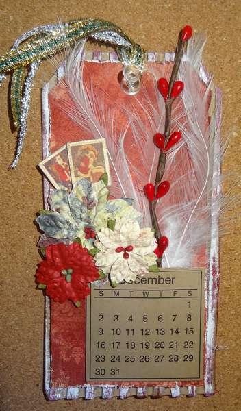 "2012 Tag Calendar - December (Swirlydoos December Kit "" Christmas Wishes"")"