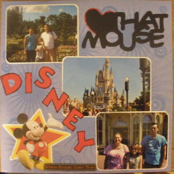 Orlando Vacation Album - Disney Love That Mouse LO Pg1