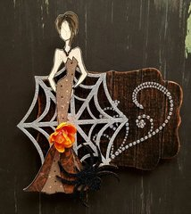 October Magnets #1- Julie Nutting Bootiful stamp