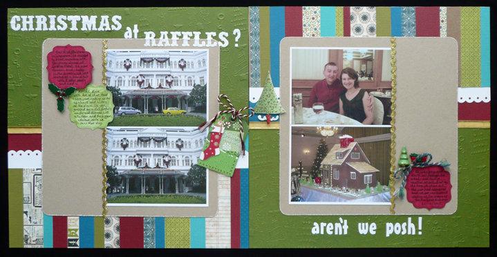 Christmas at Raffles? Aren't we posh!