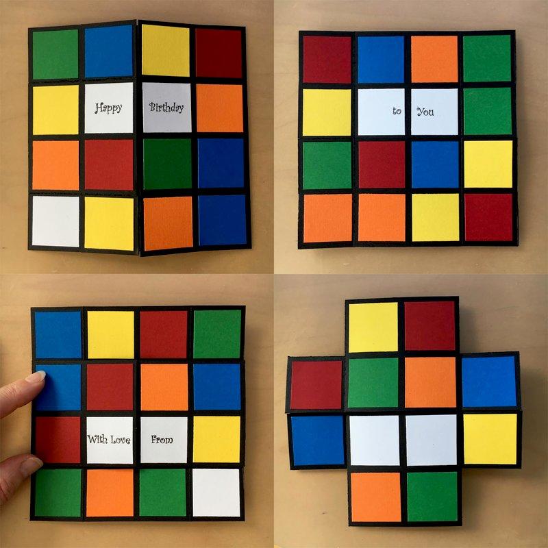 Rubik's cube infinity card
