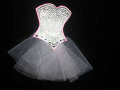 SAMPLE Corset tag for GIRLY GIRL SWAP