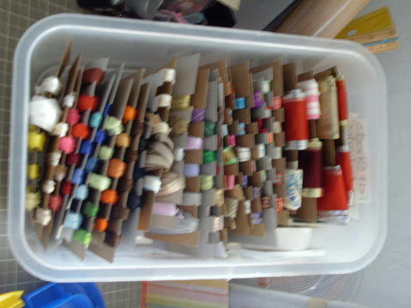125 rolls of ribbon all in one small box
