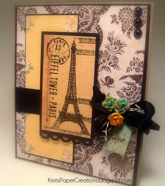 Romantic Eiffel Tower Card
