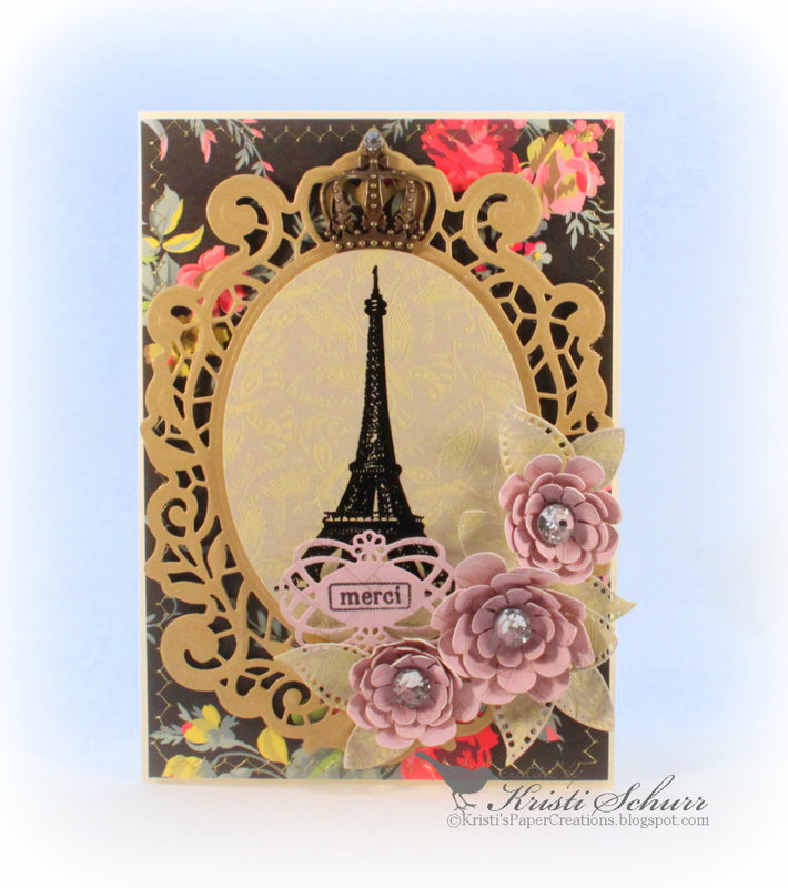 Eiffel Tower Merci Card
