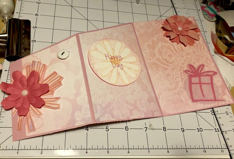 Trifold card front and inside