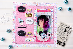 Go Girl Go with Waffle Flower Crafts and Therm O Web