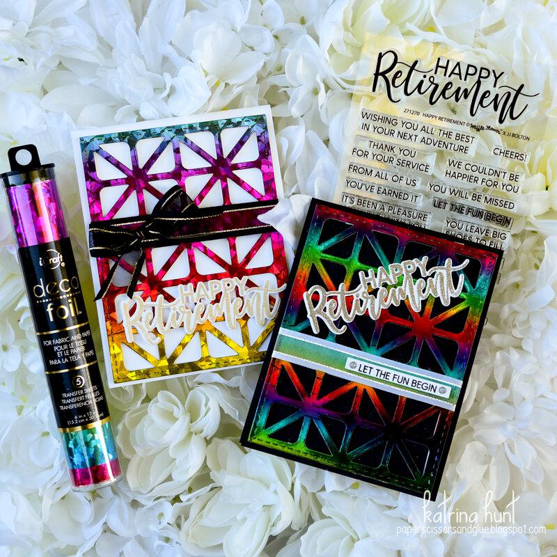 Rainbow Happy Retirement Cards