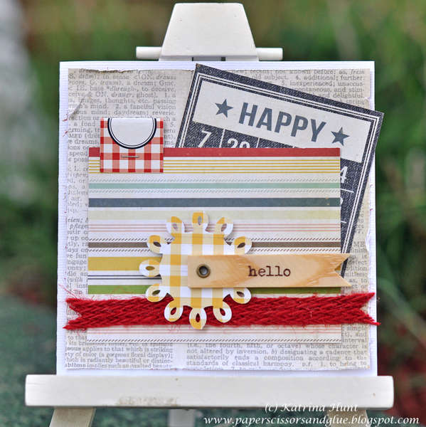 Happy Hello Card-Cocoa Daisy June Kit