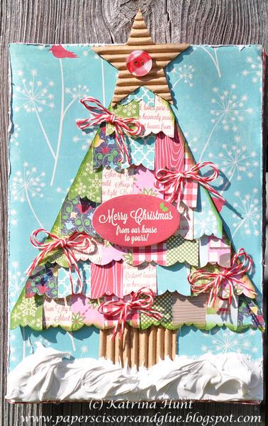Christmas Tree Altered Canvas-Jillibean Soup Guest Design