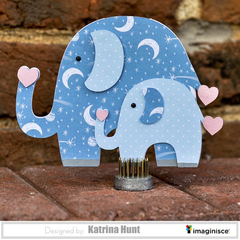 Elephant Baby Card-Imaginsce