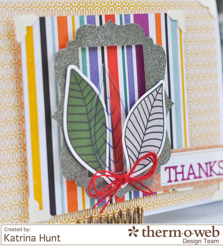 Thanks Card-ThermOWeb & Basic Grey