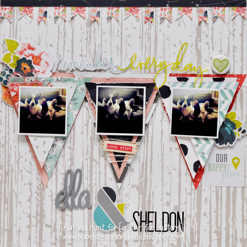 Ella & Sheldon-a flair for buttons and Heidi Swapp