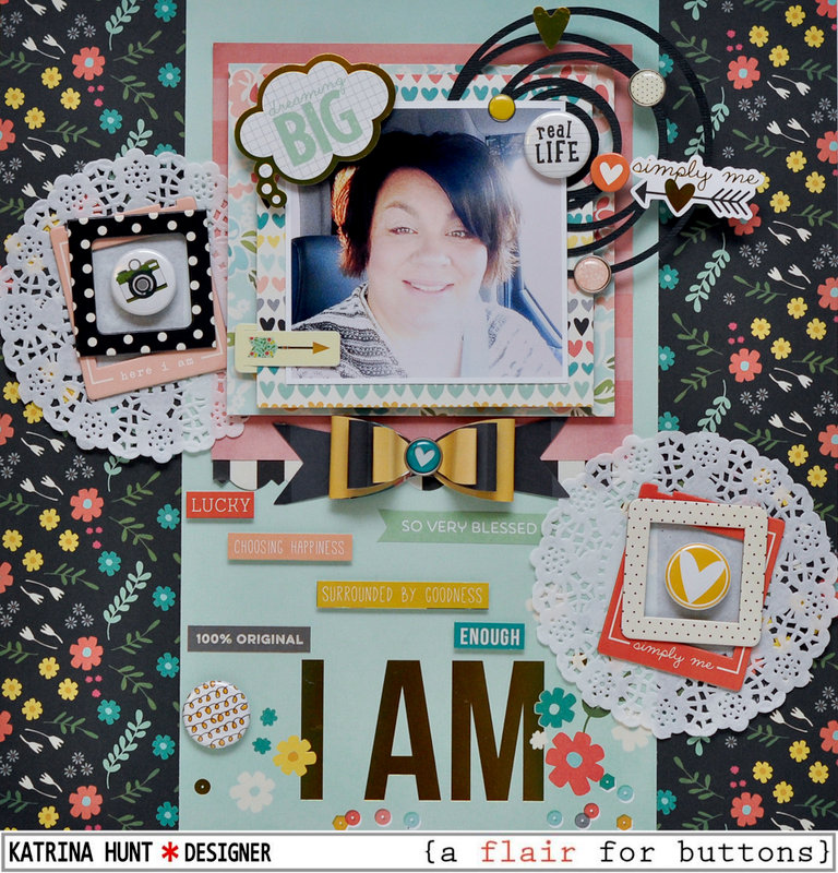 I Am-a flair for buttons and Simple Stories