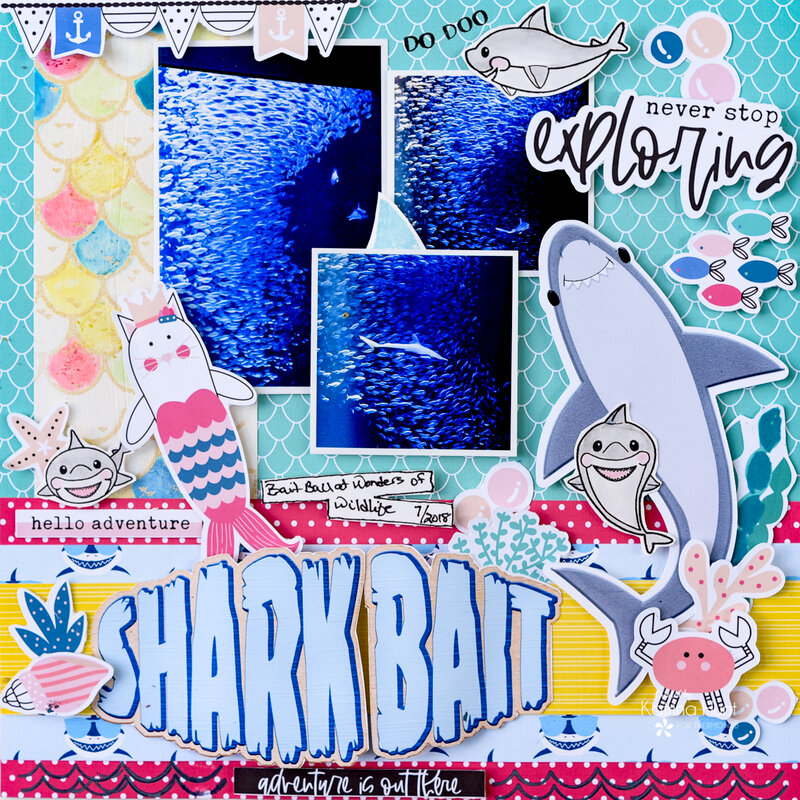 Shark Bait with Therm O Web and Joy Clair