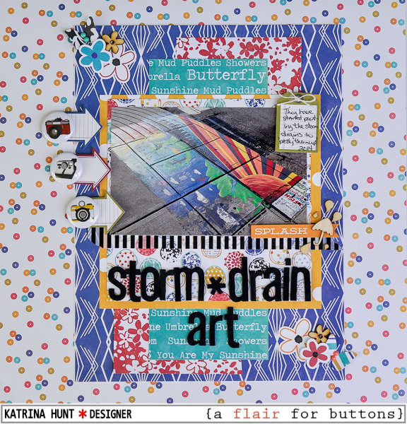 Storm Drain Art-Jillibean Soup and a flair for buttons