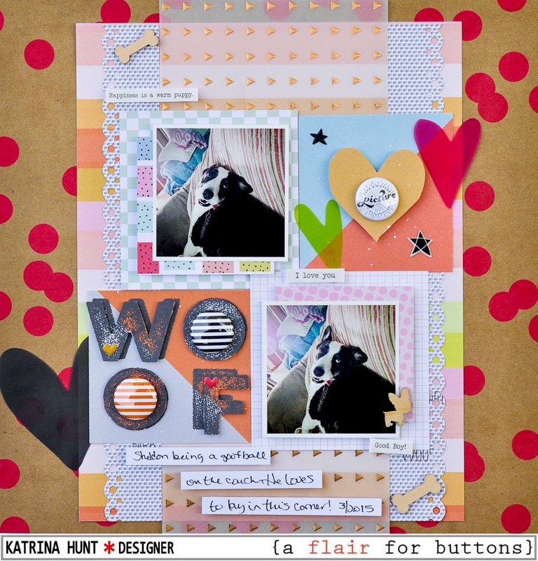 Woof-{a flair for buttons} Seven Paper