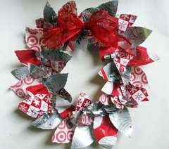 Recycled Holiday Wreath