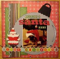 "Waiting For Santa ""Paws"""