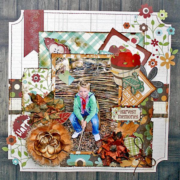 Harvest Memories ** MY CREATIVE SCRAPBOOK**
