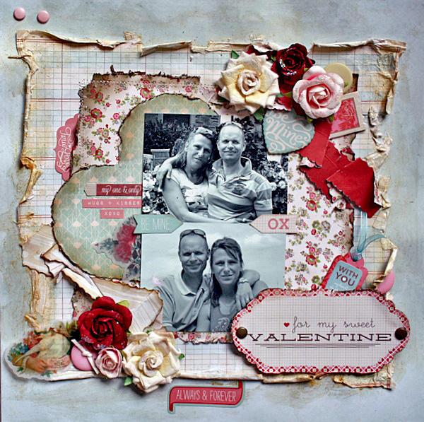 for my sweet valentine** My creative scrapbook**