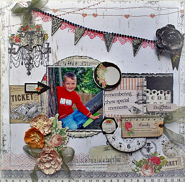 Remembering special moments ** MY CREATIVE SCRAPBOOK**