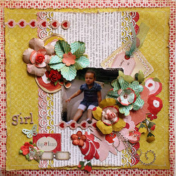 GIRL Hugs & Kisses **DT MY CREATIVE SCRAPBOOK**