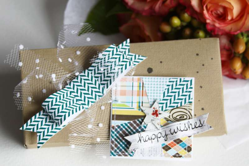 Happy Wishes Small Gift Tag *Pretty Little Studio*