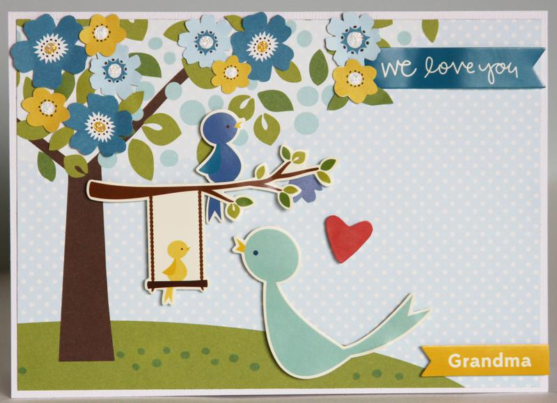 """We Love You, Grandma"" Card *Pebbles*"