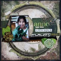 Anne and her Iguana