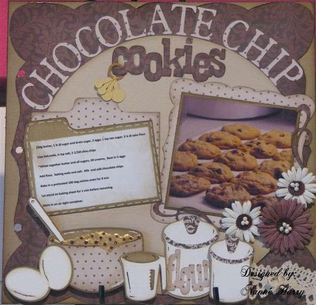 Choc.chip cookie recipe for cookbook
